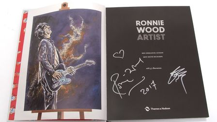Lot 271 , signed book 'Ronnie Wood Artist', estimate £100-£150. Pictures: Keys Fine Art Auctioneers.