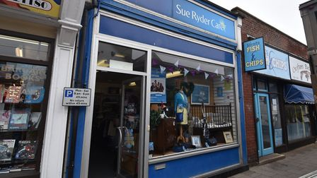 Sue Ryder charity shop in Sheringham.Picture: ANTONY KELLY