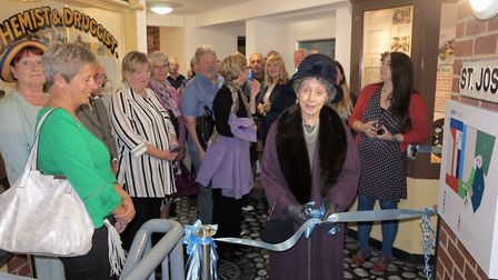 Sheringham Museum supporter Nona Gray dressed as Olive Edis to officially open twin exhibitions char