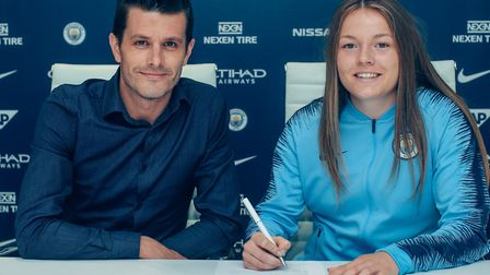 Former North Walsham High School pupil Lauren Hemp has signed for Manchester City Women. Picture: To