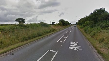 A stock photo of the A149 at Antingham. Photo: Google Maps