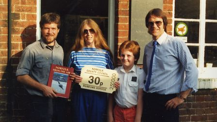 The quarter millionth visitor taken in August 1978. Picture: Alistair Murphy
