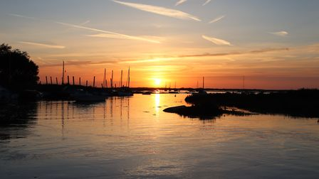 Recent sunset coinciding with a floodtide at Blakeney. Photo: Andrew Taylor
