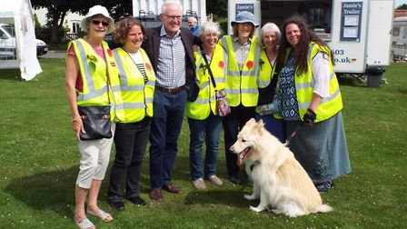MP Norman Lamb opened the Aldborough fayre. Pictures: supplied by Hannah Warren