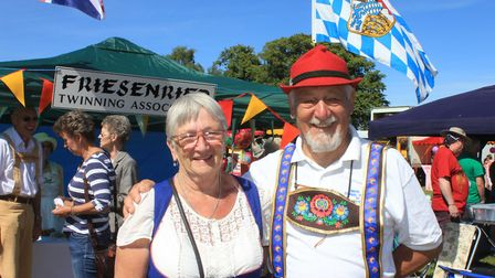 North Walsham Friesenried Twinning Association vice-chairman Dianne Pipe with her husband PatrickPho