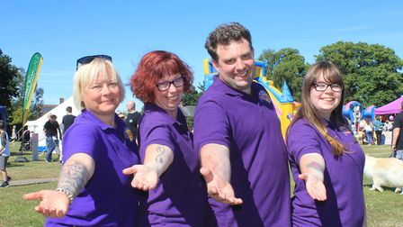 Fun Day team members (from left): Julie-Ann Smith, Fun Day chairman Andrea Canham, vice-chairman Col