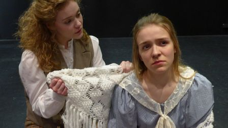 Gretel Brice''s daughters Megan and Matilda play Jo and Beth in Little Women. Picture: Richard Batso