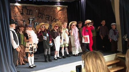 Pupils at St Nicholas House took to the stage in 'I'm Brave, I'm ME'. Photo: St Nicholas House