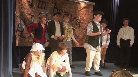 The play was written by the school's drama teacher and involved all 44 children at the school. Photo
