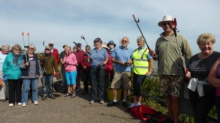 Overstrand beach clean-up. Pictures: Overstrand WI