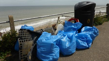 Rubbish cleared from Overstrand beach in the clean-up. Pictures: Overstrand WI