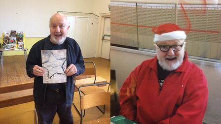 Jim O' Hare, after, left, and before, his weight loss. Pictures: supplied by Jane Teil