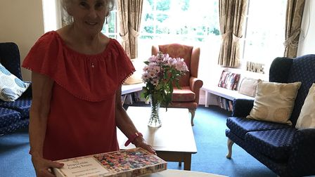 Beryl Sadler with her jelly jigsaw. Picture: Paula Pawsey