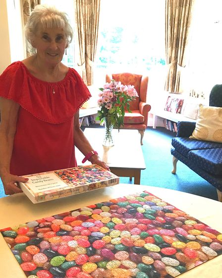 Beryl Sadler and her jelly jigsaw. Picture: Paula Pawsey