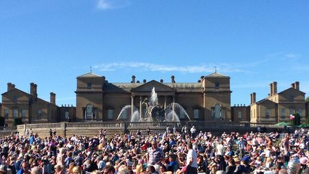 Getting ready for Lionel Richie at Holkham Hall. Photo: Julie Frost
