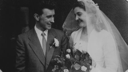 Audrey and Roy Haynes on their wedding day. Picture: SUBMITTED