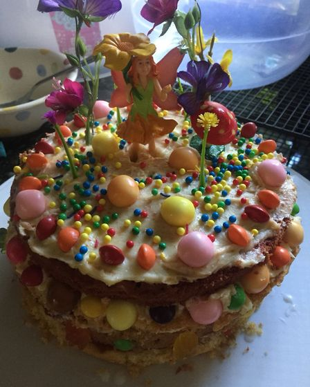The cake made by St Nicholas House School, North Walsham pupil Ella Fraser. Picture: SUPPLIED BY THE