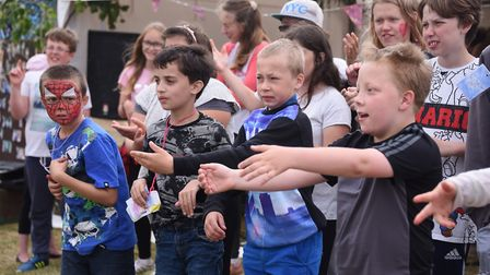 The Sidestrand Hall School pupils signing choir during the fourth Strand Festival. Picture: DENISE B