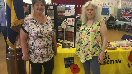 Linda Streeting (left) and Lorna Fish from the Northrepps branch of the Royal British Legion. Photo:
