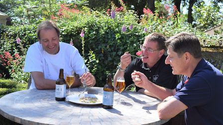 Beer and food matching. Galton Blackiston, David Holliday and Rob Moody. Pictures: Frances Brace