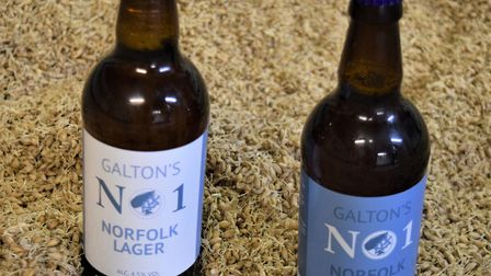 The two new beers. Pictures: Frances Brace