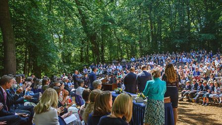 Gresham's Theatre in the Woods, Prep School Speech Day. Picture: Chris Taylor Photography