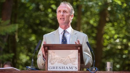 Matthew Fleming, Senior School Speech Day. Picture: Gresham's.