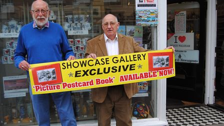 Mike Ling, left and Bob White, who have republished a picture postcard book of North Walsham. Pictur