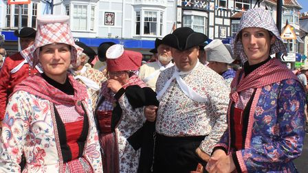 Aald Hielpen dancers, who travelled from their home in the Netherlands to take part in Sheringham Po