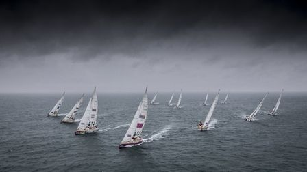 The Clipper 2017-18 Round the World Yacht Race Fleet. Picture: ONEDITION