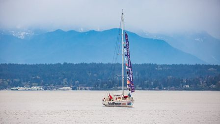 A scene from the Clipper Round the World Challenge. Picture: JEAN-MARCUS STROLE