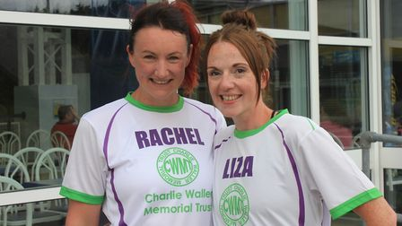Friends Rachel Welch and Liza Gotts, who are taking part in the British 10k run in aid of young peop