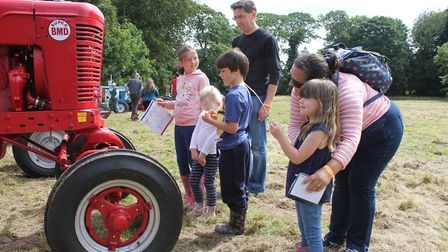 Vintage tractors on show at Trunch scarecrow festival and fun dayPhoto: KAREN BETHELL