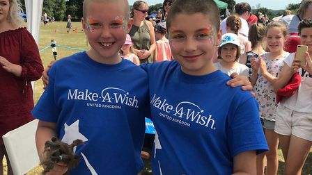 The girls have raised well over £2,000 for the charity. Photo: Make-A-Wish