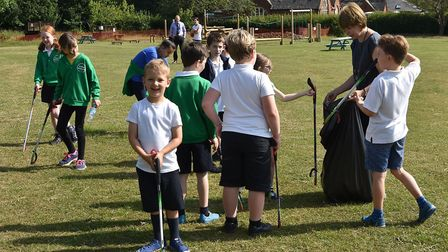 Colby Primary School pupils are going for gold in the Eco Schools campaign. Photo: NNDC