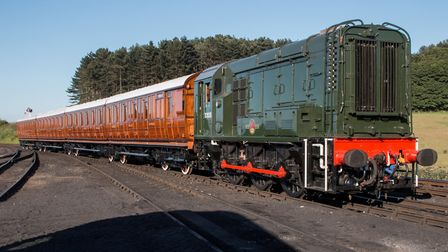 Newly acquired loco D3935 at Weybourne. Photo Steve Allen