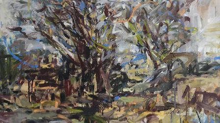 Painting by Kate Giles, whose work is featured in the Coast Arts Spirit of the Artist exhibitionPhot