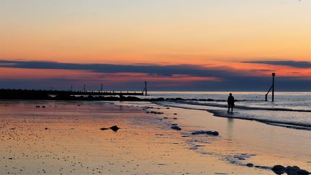 Sheringham beach just before sunset. Photo: Andrew Taylor