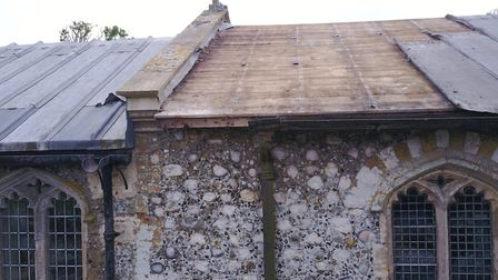 Lead theft at Baconsthorpe church: Pictures: Corinne Youngs