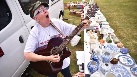 Ali Batts (AKA Ali Bee) has been banned from singing at several car boot sales. Ali pictured at at h