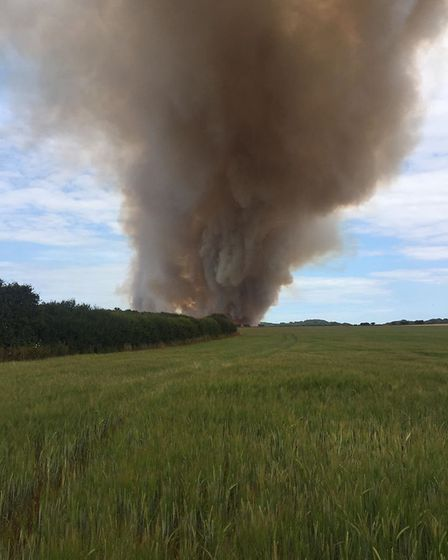 Another view of the blaze. Picture: ALICE WELLS