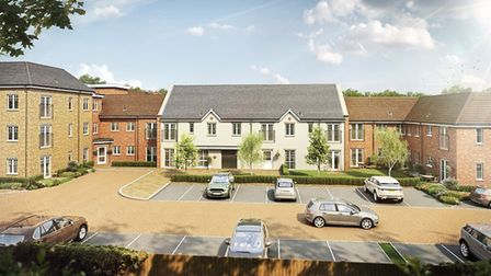 An artist''s impression of how Louis Arthur Court will look when complete. Front view. Picture: McCa