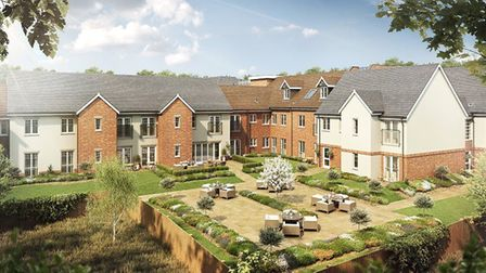 An artist''s impression of how Louis Arthur Court will look when complete. Rear view. Picture: McCar
