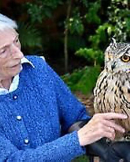 Resident Eva Houchin with owl. Pictures: supplied by Stephen Pullinger