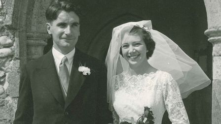 Anthony and Vivienne Baker on their wedding day in 1958. Picture: Baker family