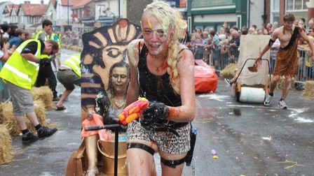 The annual street races, one of Sheringham carnival's most popular eventsPhoto: KAREN BETHELL