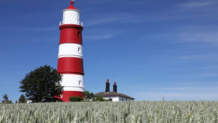 Happisburgh Lighthouse after it was re-painted. Picture: Harris for Sandtex