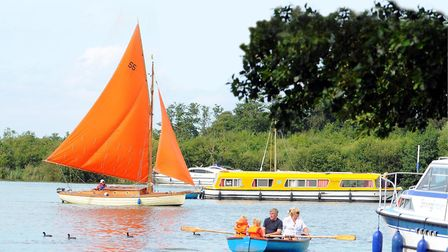 A busy weekend at Ranworth staithe on the Norfolk Broads. Picture: James Bass