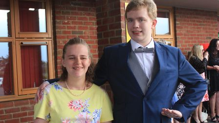 Woodfields students Sarah, 21, and Jackson, 19, dressed to impress at their school prom.Photo: KAREN