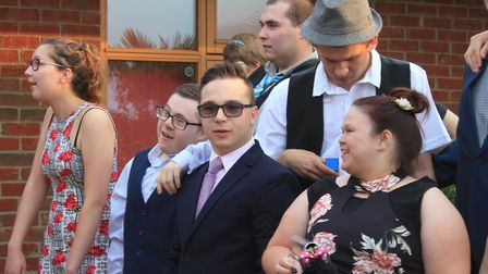 Sheringham Woodfields students at their school promPhoto: KAREN BETHELL